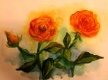 2016-02-05 aquarelle gelbe rosen SK